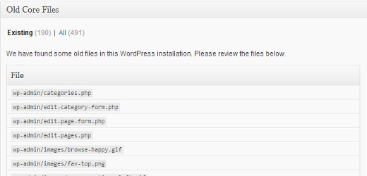 wordpress-old-core-files