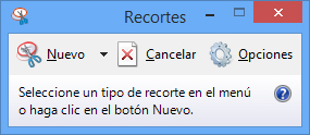 Captura de pantalla en Windows con Recortes